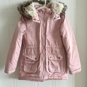 H&M Light Pink Padded Parka Jacket 6-7 years old